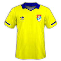 Gone with the simple retro look for the home kit