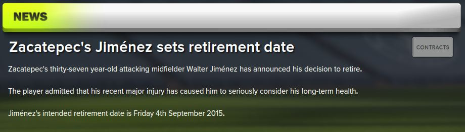 Jiminez retirement