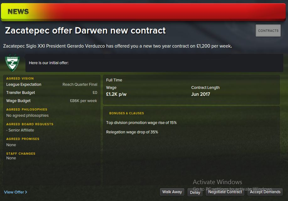 new contract talks