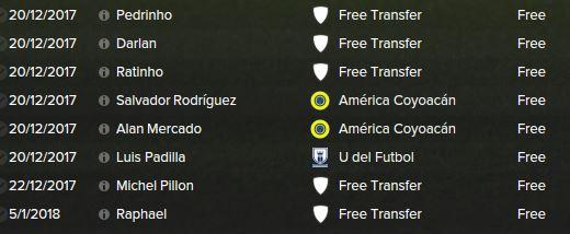 dec transfers