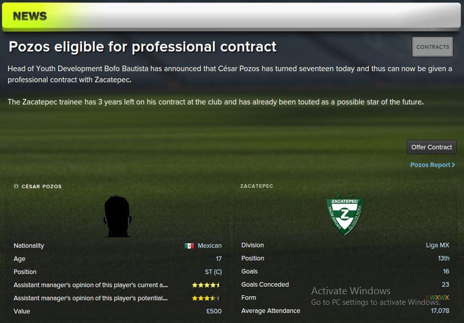 pozos contract